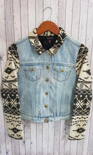 Jaket Jeans MAISON SCOTCH Trucker with Blanket Denim Jacket