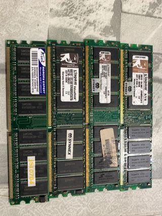 送高山烏龍茶 金士頓 威鋼 DDR 400 256M 512M 1G 記憶體 桌上型電腦