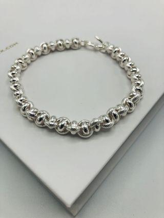 999純銀蛇紋環形手鏈