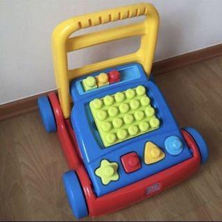 🦄FISHER PRICE🦄 Mega Bloks First Builders - 3-in-1 Build & Go Walker C/W Assorted Blocks/ Bricks (Children/ Kids Toy)