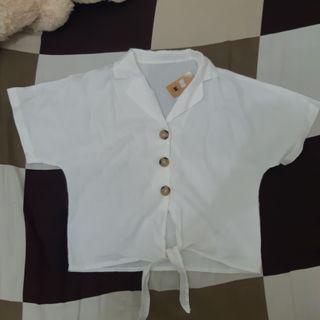 Macadamia house blouse putih