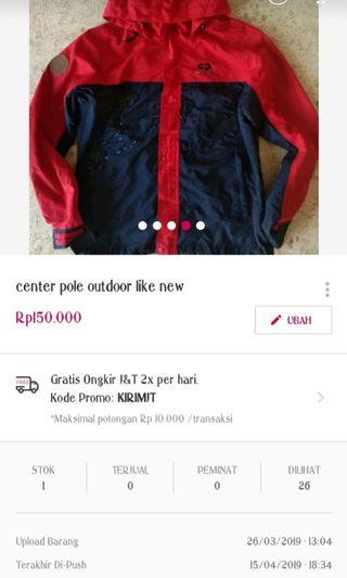 Jacket outdoor like new  free ongkir