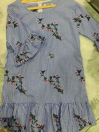 Chocochips flower dress blue