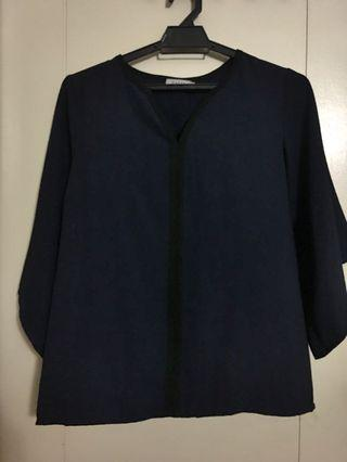 Zalia Dark Blue Blouse
