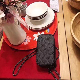 🚚 香奈兒chanel魚子醬手機鏈條包