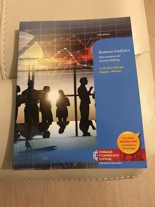 Business Analytics Asia edition 5th edition