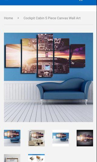 🚚 Price reduced (READY TO HANG) Cockpit Cabin 5 Piece decor