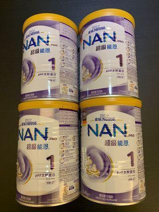 雀巢 nan pro 超級能恩 1 400g 奶粉 美贊臣 能恩 美素力七星茶 奶嘴 bb床
