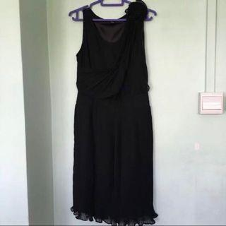 👗Women's/ Ladies' Sleeveless Black Floral/ Flower Chiffon Dress (Size: XS)👗