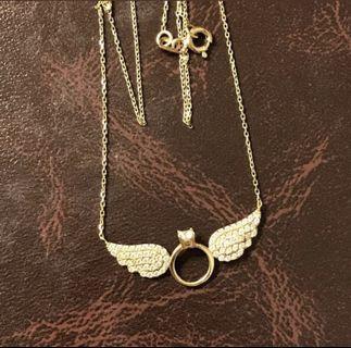 "18 Karat- Saudi Gold Wing Chain 16"""