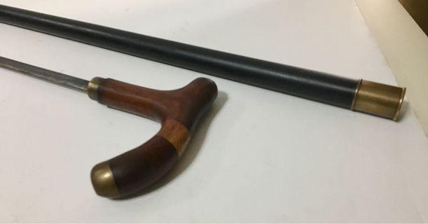 Rare Fine Cane-Sword; Colonial Era, Wonderful Construction.