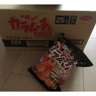 【陽陽小舖】《湖池屋》咔辣姆久厚切洋芋片-勁辣唐辛子口味 54g