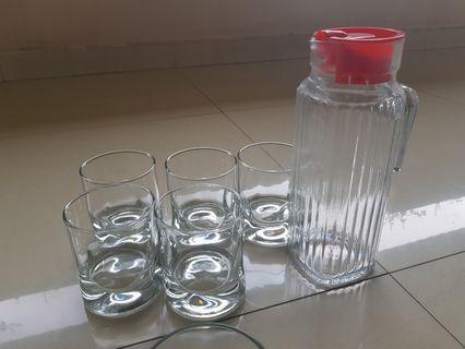 Botol Kaca dan gelas