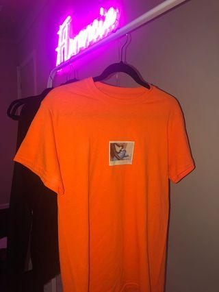 Kylie Jenner Orange Polaroid T-shirt (original release)