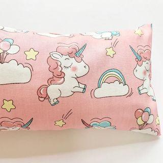 🚚 🌈 Bean Sprout Husk Pillow / Beanie Pillow , Imported fabric ( 100% Handmade 100% Cotton , Premium Quality!) size 15 x 40cm Unicorn 🦄