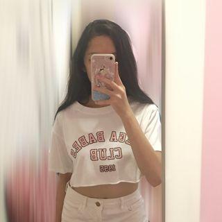 Forever 21 crop top girls woman teenager perempuan t shirt tee