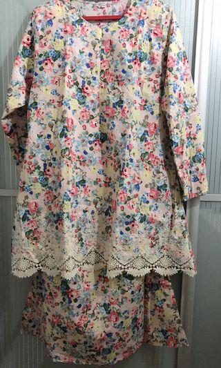 Baju Kurung Cotton Sulam Plus Size