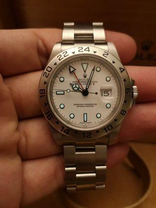 Rolex Explorer 2 16570 White Polar  40mm Automatic