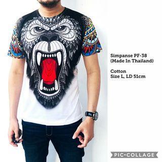 Kaos Pria Import Thailand Simpanse PF38
