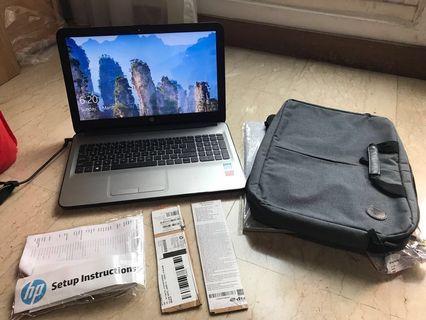 """HP laptop 15"""" w/ free laptop bag"""