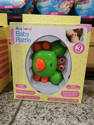 Baby Rattle Toy Crab Green