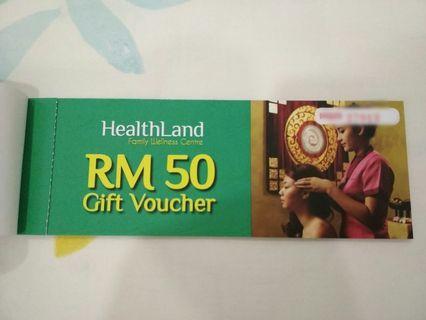 💯 Original HealthLand Gift Voucher Worth RM50