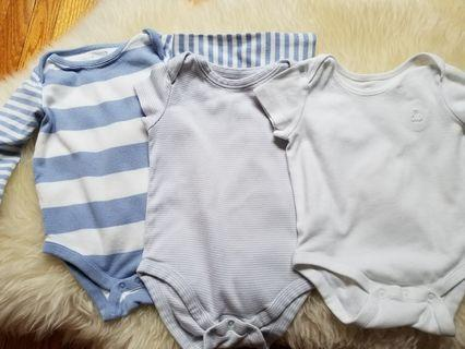 Baby Gap onesies bodysuits baby clothing lot size 6 to 12 months. UC. Pick up Gerrard and Main Street for $5 each or take all three for $10. Or pick up Yorkville for $11.