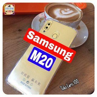 Softcase Anticrack Samsung M20 - Silikon - Cover Bening