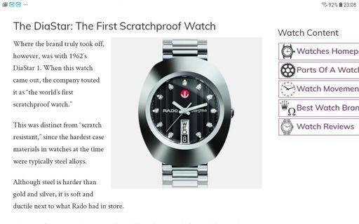 Rado 雷達錶,永不磨損形,超硬金屬 ,35mm,95%新淨,淨錶
