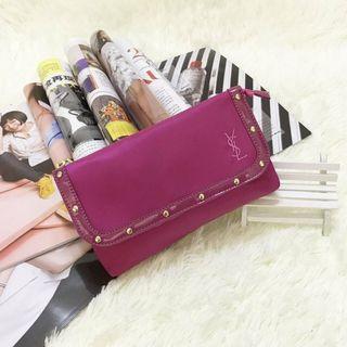 YSL Beaute 粉紅色 晚裝袋 手提袋 化妝用品袋 ~ 專櫃VIP贈品