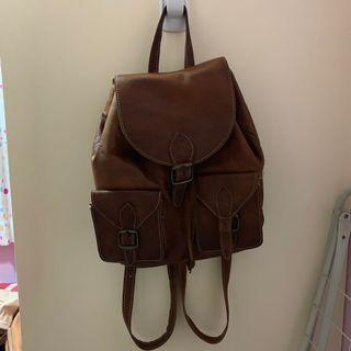 Leather backpack from Spain 西班牙皮背囊