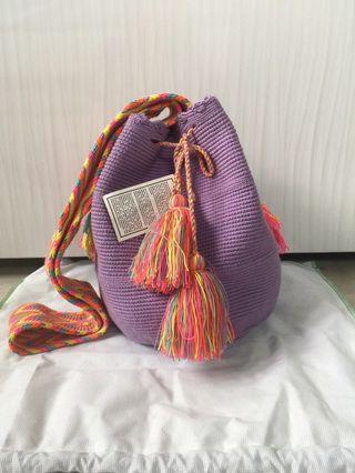 Tas rajut tassel colorful made in kolombia