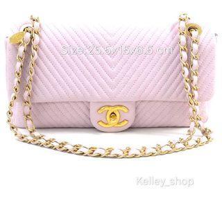 Chanel pink vintage bag