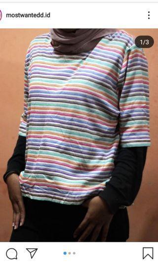 rainbow stripes tshirt kaos