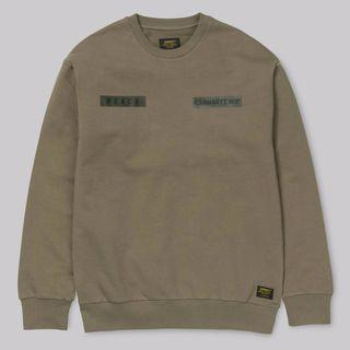Carhartt WIP 大學T Peace Sweatshirt 長袖 軍風 Logo 金標 軍綠色 Military