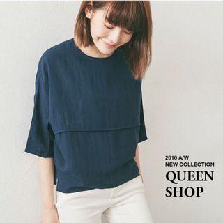 二手 Queen shop 剪接造型 上衣