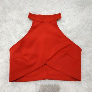 Red Sexy Crop Top
