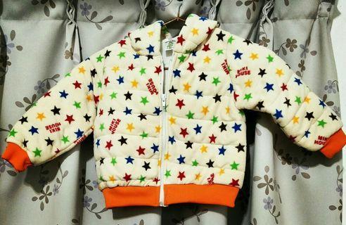 🚚 【便宜賣】80cm-小朋友星星秋冬款外套