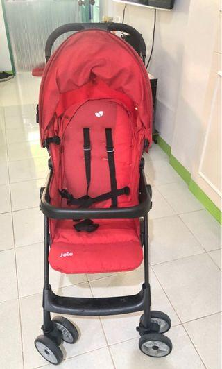 Red joie stroller
