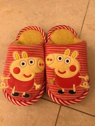 Peppa pig 拖鞋