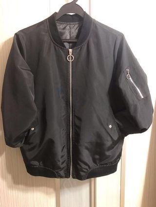Brand New Ladies Black Bomber Jacket (M)