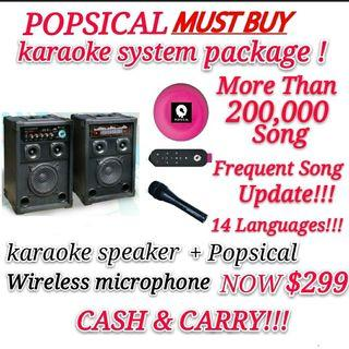 Popsical Full karaoke package