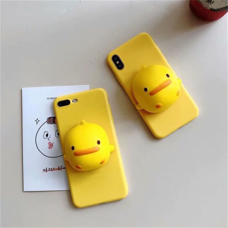 sports shoes 93853 cfb72 3d squishy duck phone case