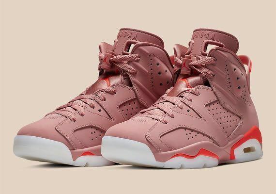 cfdbe20246dc26 🔥 Aleali May Nike Air Jordan 6 Millennial Pink