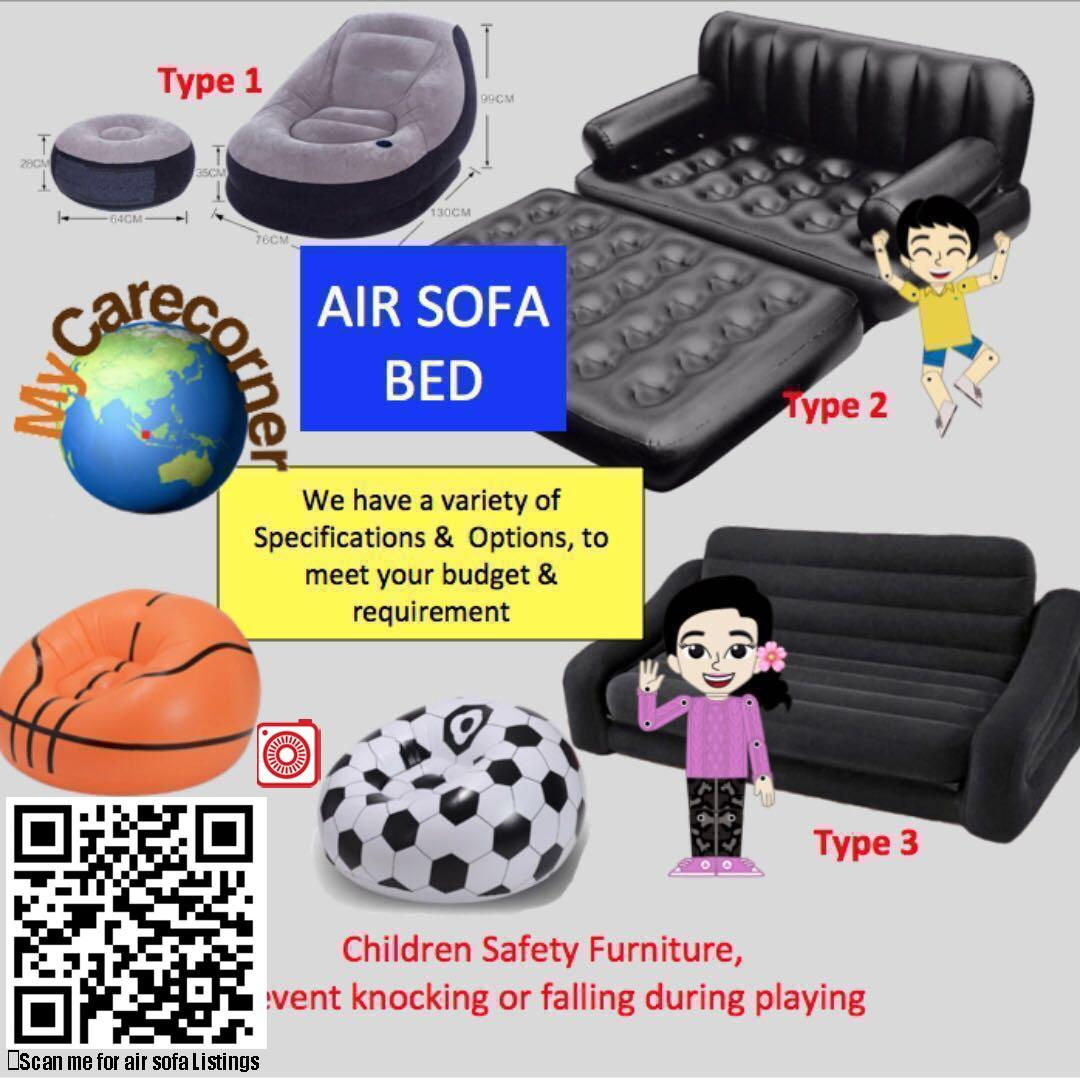 Intex Inflatable Air Sofa Chair Bed Airbed Portable Bestway Sofa