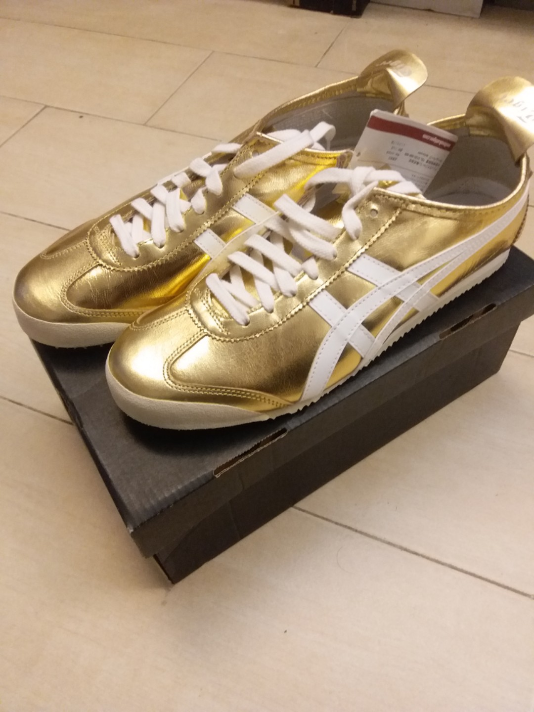 lowest price 13314 78b4d Asics Onitsuka Tiger Mexico 66 Gold & White Men Sneakers THL7C2-9401