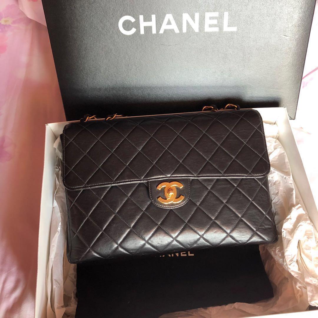b6ebe3b4ae16 Authentic Chanel vintage jumbo handbag