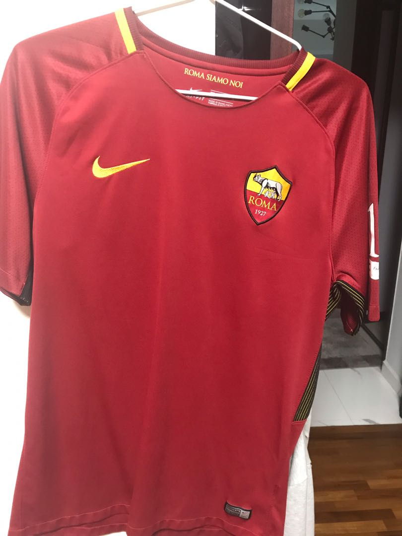 various colors bc41e 506ad Authentic Roma Home Jersey(Tribute to Totti)