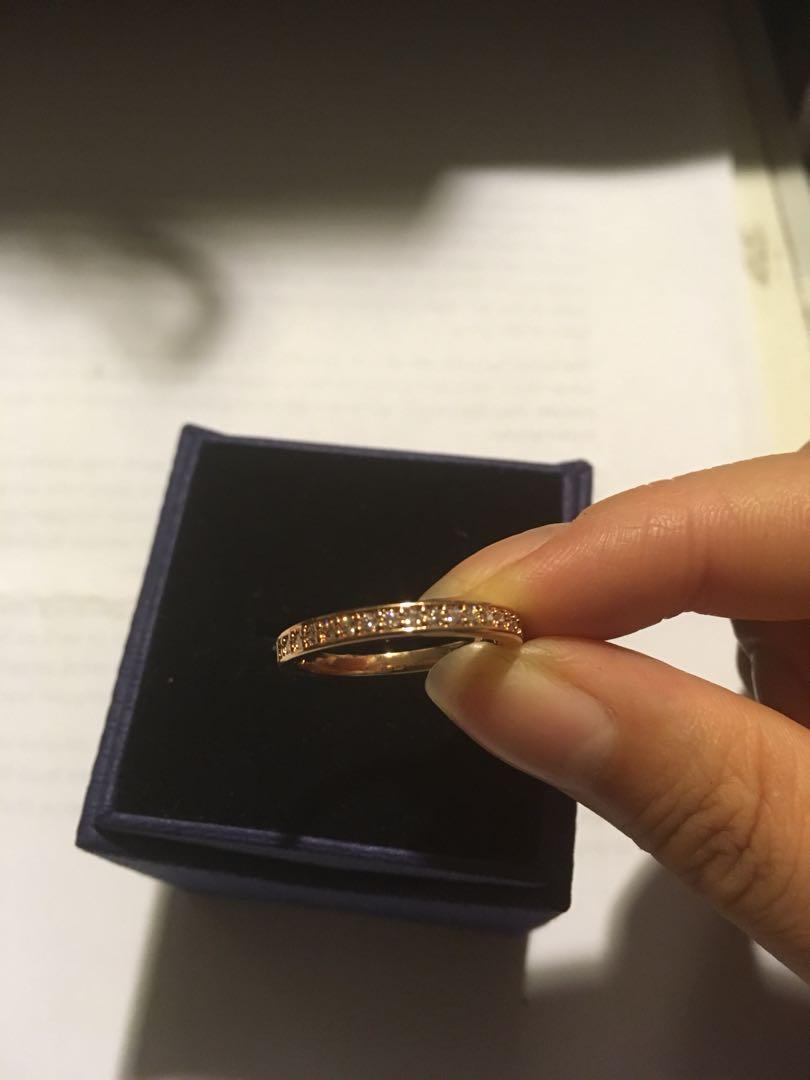 [AUTHENTIC] Swarovski RARE Ring White Rose Gold Plated (Size 55)