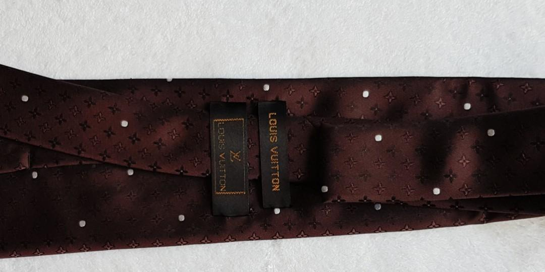 HAND MADE! Authentic Vintage Louis Vuitton 100% Silk Tie. Not into deep brown colour?  No worries...browse my other listings..
